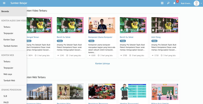 Manfaatkan E-learning yang disediakan oleh Kemdikbud untuk belajar dari rumah