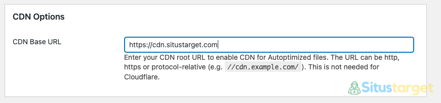 Cara Menggunakan CDN Pada Plugin Autoptimize