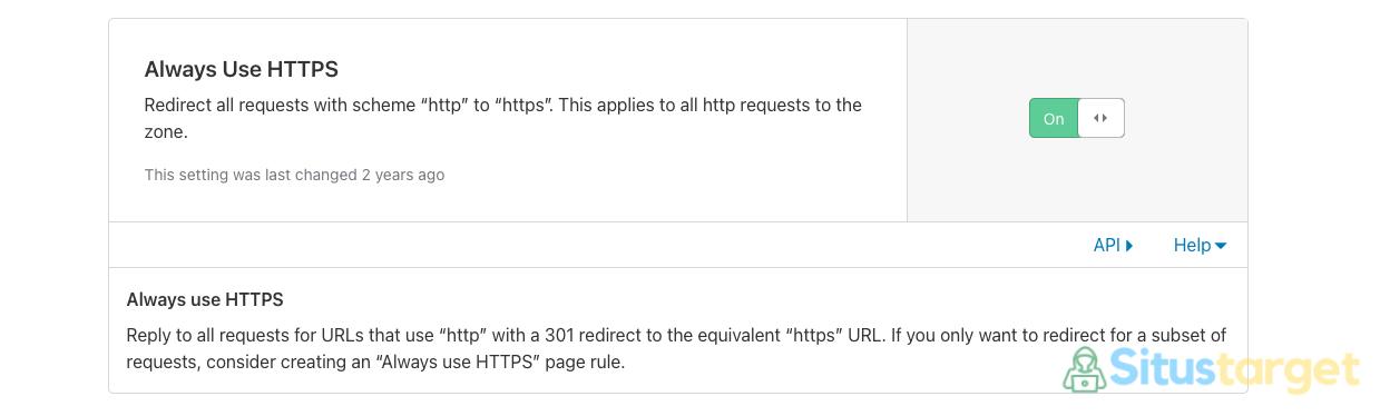 Cara Menggunakan Cloudflare Always Use HTTPS