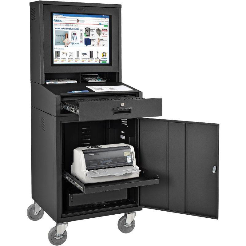 Lemari kabinet untuk melindungi desktop PC dari pencurian perangkat